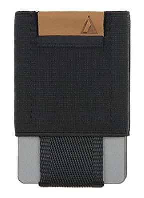 NOMATIC Men's Black Slim Minimalist Wallet- Everyday Carry Card Holder- Keys, Cash, Coin