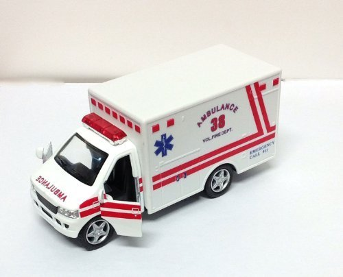 Ambulance Rescue - Rescue Team Ambulance, White - Kinsmart 5259D - 5