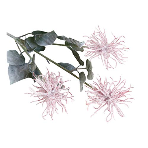 Makkalen Sea Urchin Flocking Artificial Flower Fake FlowerHome Wedding Party Floral Decor Delicate and Utterly Beautiful Look That Mimics The Real Cherry - Blushing Beauty Bouquet