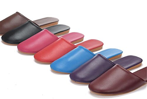 for Wooden Fiber W Super Slippers Leather Women Soft and Summer Fonc¨¦ TELLW Autumn Spring Floor Rouge Light Men 8Pq5BU