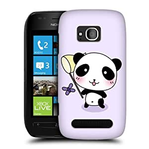Head Case Designs Catch a Butterfly Kawaii Panda Protective Snap-on Hard Back Case Cover for Nokia Lumia 710