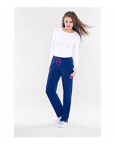 Smitten Women's Hottie Slim-Fit Cargo Scrub Pants, Hot Coral, (Hottie Hot Pants)