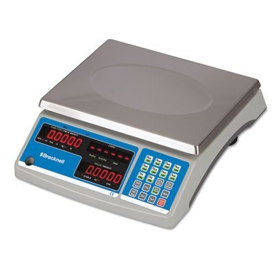 Brecknell Electronic 60 lb. Coin and Parts Counting Scale, Gray (SBWB140)