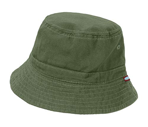 City Threads Little Boys' and Girls' Solid Wharf Hat Bucket Hat for Sun Protection SPF Beach Summer - Olive - XL(4-6) ()