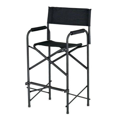 (E-Z UP Directors Chair, Tall Black)