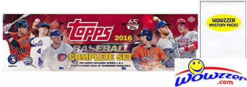 2016 Topps MLB Baseball HUGE 705 Card Factory Sealed HOBBY Factory Set with 5 EXCLUSIVE PARALLEL Cards! Plus Bonus Wowzzer Mystery Pack with AUTOGRAPH or MEMORABILIA Card! Includes all Card Series 1&2