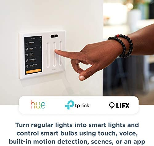 Brilliant Smart Home Control (2-Switch Panel) — Alexa Built-In & Compatible with Ring, Sonos, Hue, Kasa/TP-Link, Wemo, SmartThings, Apple HomeKit — In-Wall Touchscreen Control for Lights, Music & More 41 2BnCXDOB5L
