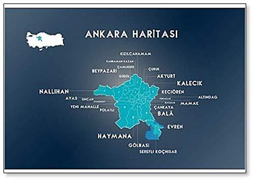 Ankara Turkey - Map Of Ankara, Turkey classic fridge magnet