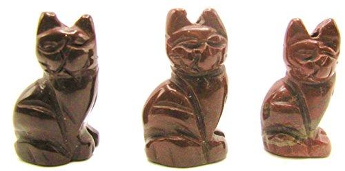 stone Sitting Cat Fetish Beads (rainbow jasper) ()