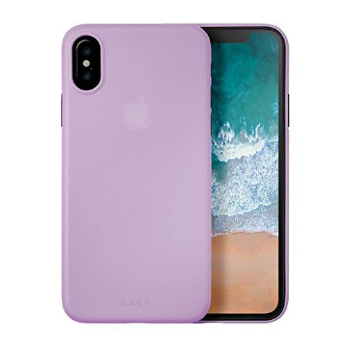 new arrival fb3f5 131f9 LAUT - SLIMSKIN 0.5mm Super Thin Case for iPhone X with Raised Camera  Protection (Violet)