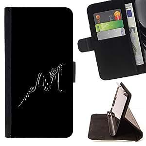 For LG G3 Case , Negro Blanco Foto Sexy chica mujer rayas- la tarjeta de Crédito Slots PU Funda de cuero Monedero caso cubierta de piel
