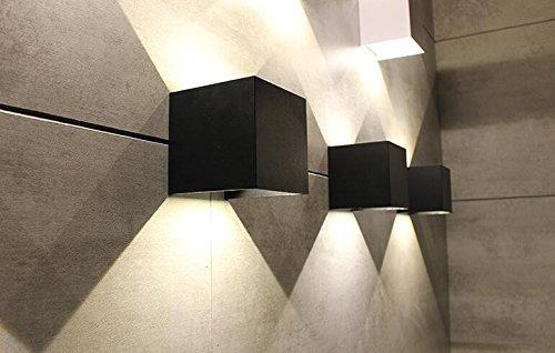 Xzfddn esterno muro luce led con oscuramento impermeabile hotel