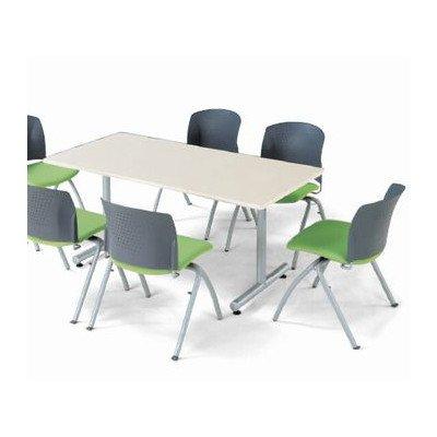 会議用テーブル ミーティンテーブル T脚 1890K角型 クローム仕上 幅1800×奥行き900mm メープルMPL B018VGPXEM メープルMPL メープルMPL