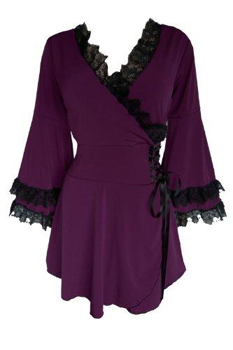 Dare To Wear Gothic Women's Plus Size Victoria Corset Top Plum 2x