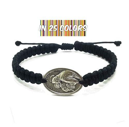 Adjustable St Anthony Medal Bracelet, Men Women Kids Catholic Gift, Saint Anthony of Padua