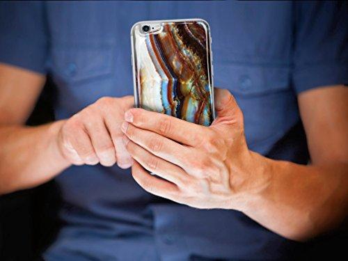 Skino™ Custodia Skin 3D Anti-Gravità Case Cover Hands-Free Selfie Resina Gel Sottile Antiurto iPhone 5 5s SE 6 6s Plus 7 Plus Anti-Scratch Protezione 100% UV Antigravità Antiscivolo MARBLE MB-8 (iPhon