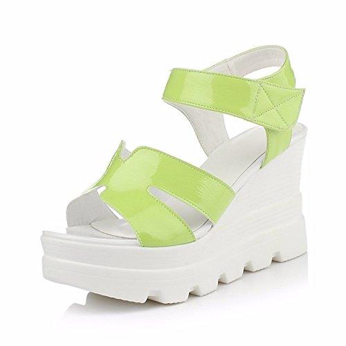 562948e99ddd ZHZNVX Zapatos de mujer cuero Confort Primavera Verano sandalias de tacón  de cuña para los eventuales