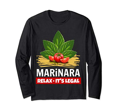 Marinara Relax It's Legal Basil Tomatoes Spaghetti Unisex Long-Sleeve T-Shirt