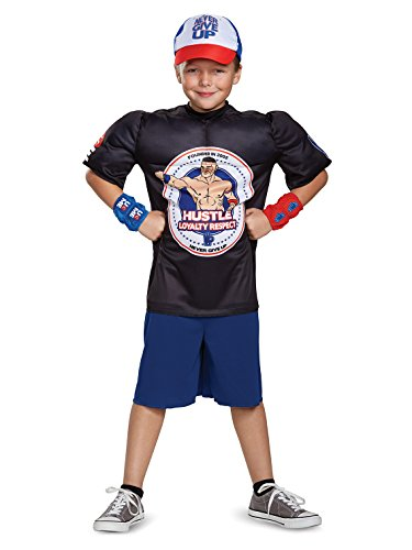 John Cena Classic Muscle WWE Costume, Black, Large (10-12) -