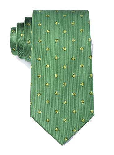 Men's Green Irish Shamrocks Necktie Tie Neckwear