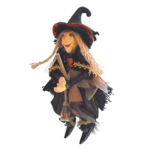 Witches of Pendle - Alice Nutter Witch Flying (Brown) 24cm