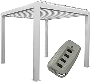 GrandLux Bio Climatic Self Supporting Aluminium Pergola   Motorised With  LEDs   4x3 M: Amazon.co.uk: Garden U0026 Outdoors