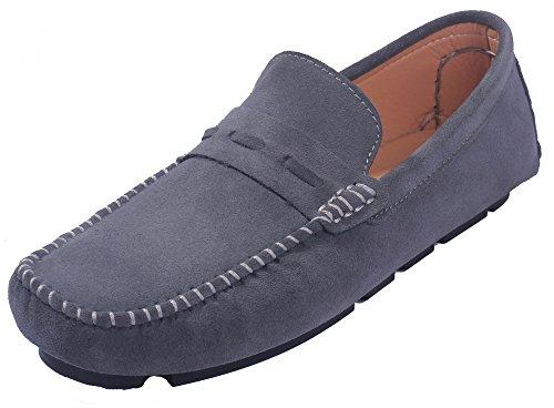 Hombre Hombre Shoes Mini para Sólido AgeeMi Zapatos Tacón Suede Gris Sintético ZpaOzzq