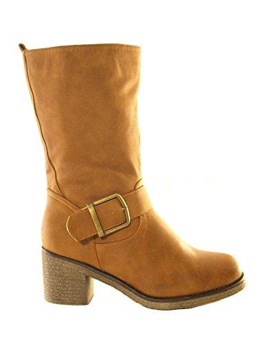 Damen Winter Stiefel Camel # 8416