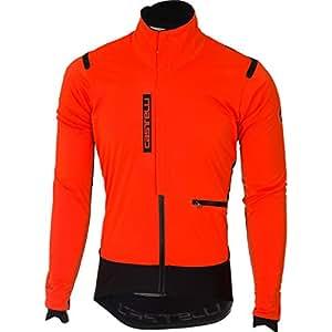 Castelli Alpha ROS Jacket - Men's Orange/Black, S
