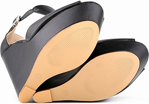 tacón Zapatos mujer negro con CFP zf6Owxnq6R