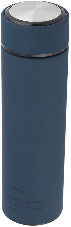 azul marino 500 ml Rockyin Acero inoxidable termo de agua tazas de t/é de caf/é botella de vac/ío de la oficina