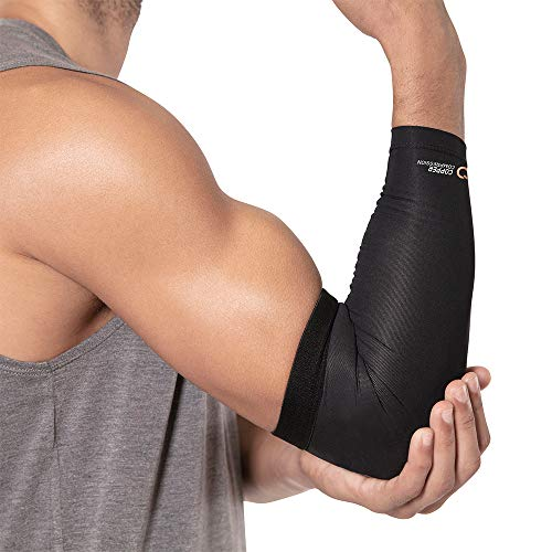Copper Compression Recovery Elbow Sleeve - Guaranteed Highest Copper Content Elbow Brace for Tendonitis, Golfers or Tennis Elbow, Arthritis. Elbow Support Arm Sleeves Fit for Men and Women (Large) 5