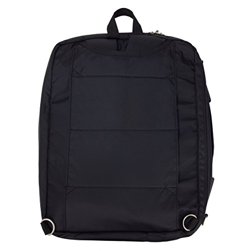 Lunetta Double Padded Big Student Classics Backpack for Acer Aspire F 15 Series 15-inch / One CloudBook 14-inch Laptops jet black