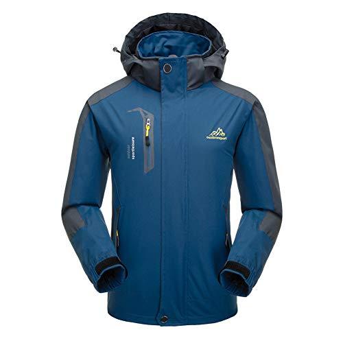 Hzjundasi Hzjundasi Hzjundasi Giacca Alpinismo Blu Scuro Scuro Scuro Impermeabile Vento Inverno Cappotto Giacca Uomo da a 4OWFBOrp
