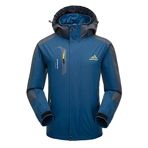 Hzjundasi Hzjundasi Hzjundasi a Inverno Impermeabile Cappotto Giacca Blu Vento Giacca Alpinismo Uomo da Scuro rxwqr8Sp