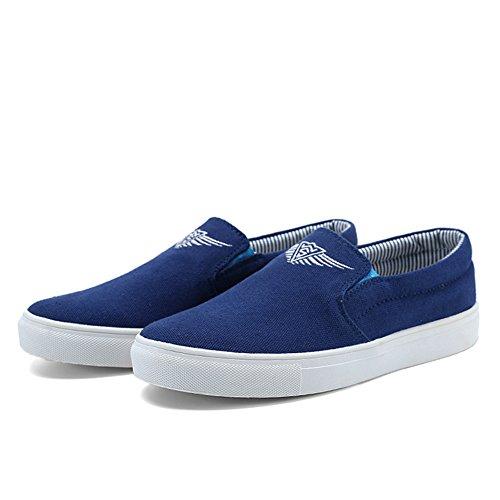 Femmes Chaussures Adulte Top De Hommes Bleu Baskets Jedvoo Loisirs Occasionnels Pantoufle Lo Unisexe Fitness Mocassins HgqTBT