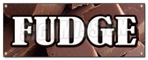 FUDGE BANNER SIGN chocolate concessions signs