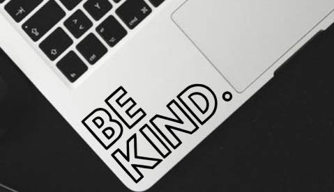 Be Kind Vinyl Decal Sticker for Car Decal, Window Decal, Hipster Decal, Laptop Decal, Be Kind Sticker, Kindness Quote