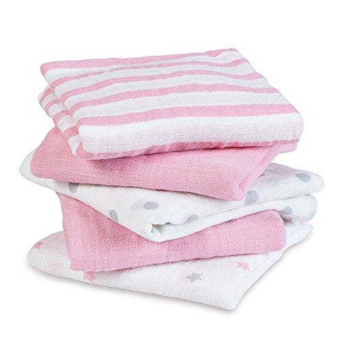 Darling Handkerchief - aden by aden + anais Musy Squares, Darling, 5 count