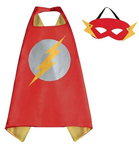 NYKKOLA Cartoon Dress Up Costumes Satin Capes with Felt Masks for Children Boy and Girl (NO.6) (NO.11)
