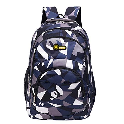 TOTOD Backpack Bucket Teenage Girls Boys School Backpack Camouflage Printing Students Bags