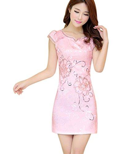 Womens Chinese Silk Cheongsam Dress - 8