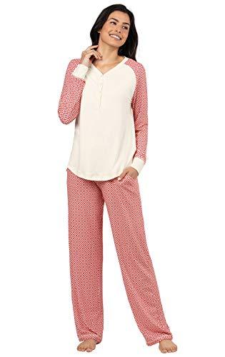 Addison Meadow Womens Pajamas Soft - PJ Sets for Women, Red, Medium / 10-12