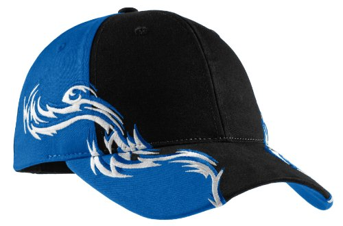 Port Authority Men's Colorblock Racing Cap with Flames OSFA ()