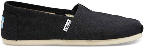 TOMS Women's Canvas Slip-On,Black,8 M