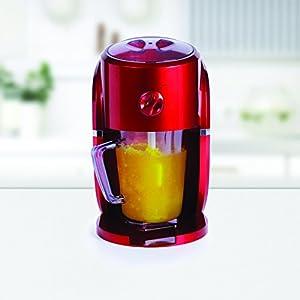 Holstein Housewares HU-09017R-M Frozen Drink Maker - Metallic Red