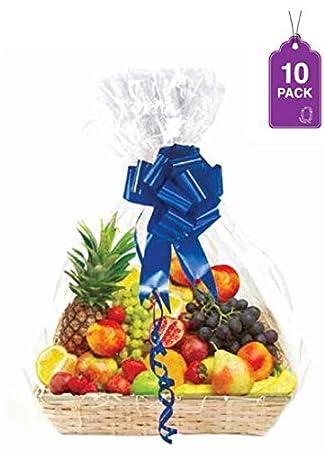 Amazon.com: Bolsas transparentes para cesta, tamaño grande ...
