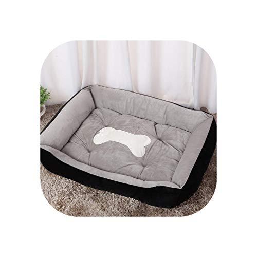 Dog Bed Warming Kennel Washable Pet Floppy Extra Comfy Plush Rim Cushion and Nonslip Bottom Dog House,Black,XXL 90cmX 70cm X15cm ()