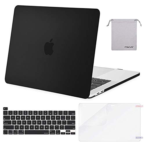 Check Out This MOSISO MacBook Pro 16 inch Case 2019 Release A2141 with Touch Bar & Touch ID, Plastic Hard Shell Case&Keyboard Cover&Screen Protector&Storage Bag Compatible with MacBook Pro 16 inch, Black