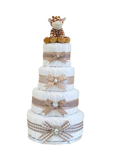 Firma Extra grande - cuatro Tier Beige Unisex - tarta de pañales ...